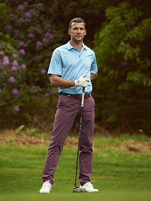 Andriy Shevchenko playing golf Photo's Dominic Marley