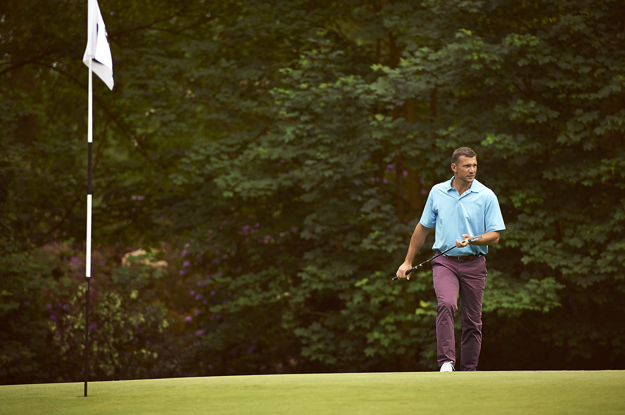 Andriy Shevchenko playing golf Photo's Dominic Marley
