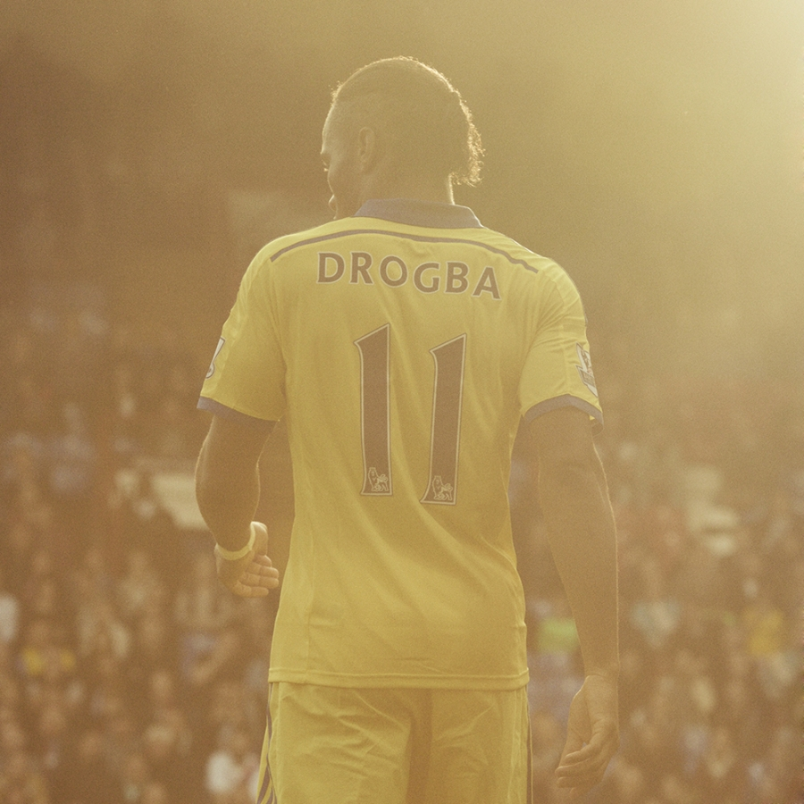 Didier Drogba with sunshine photographed by Dominic Marley