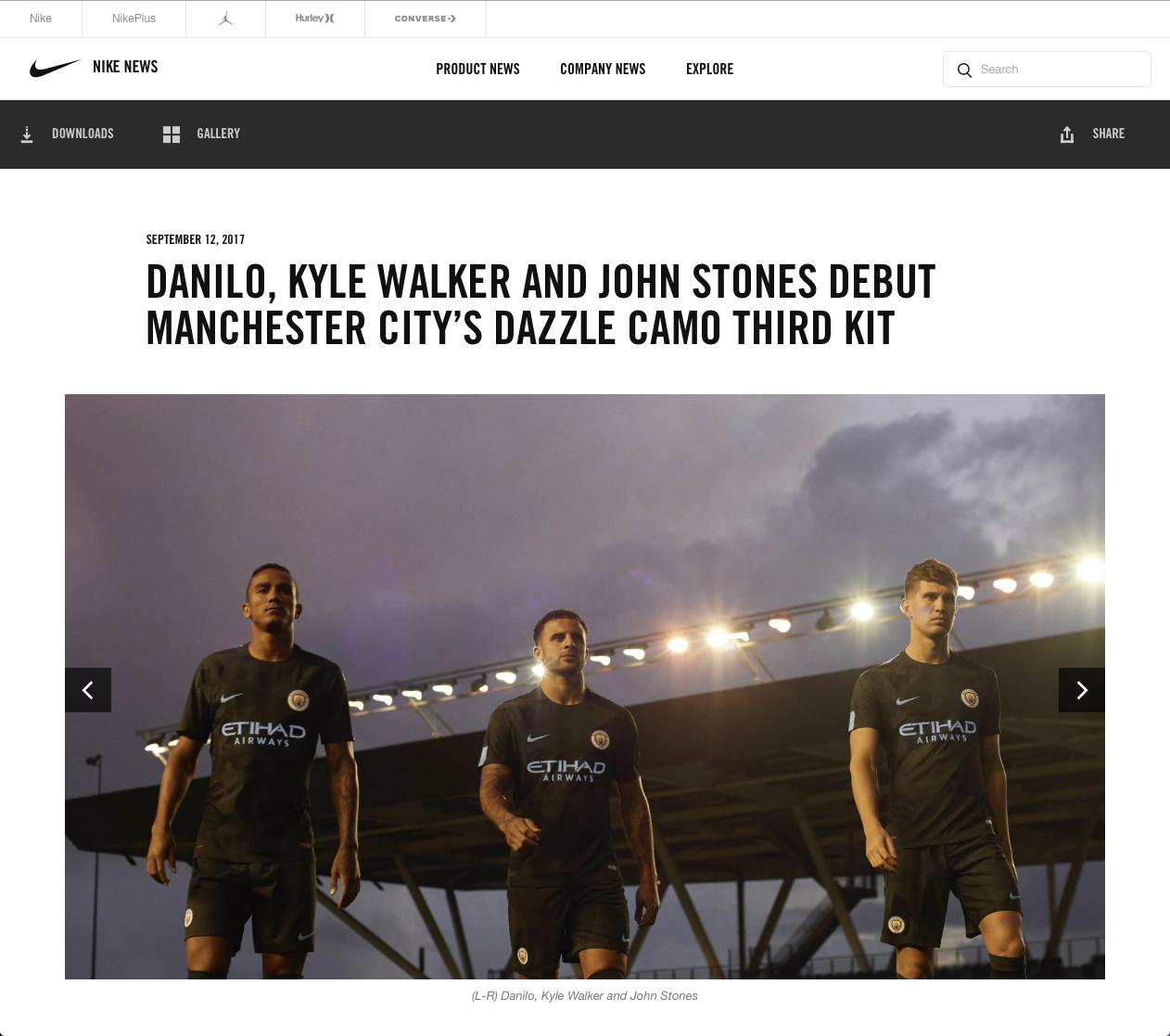 Dominic Marley Nike Man City