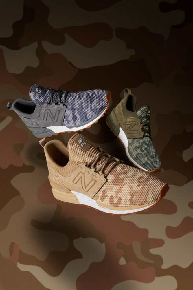 Dominic Marley New Balance 574 Camo Campaign