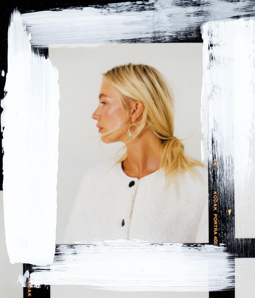 Dominic Marley photographs Sara Johansen for The White Company Autumn Winter